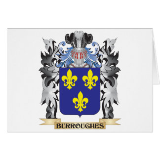 Burroughes Coat of Arms - Family Crest Greeting Card