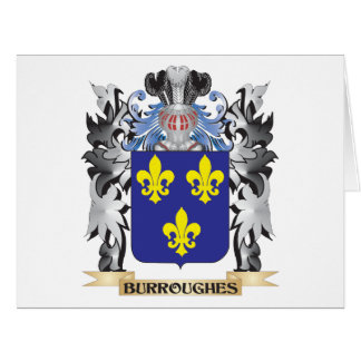 Burroughes Coat of Arms - Family Crest Large Greeting Card