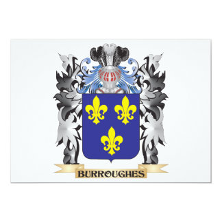 Burroughes Coat of Arms - Family Crest 5x7 Paper Invitation Card