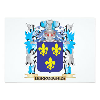 Burroughes Coat of Arms 5x7 Paper Invitation Card