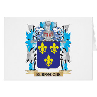 Burroughs Coat of Arms Stationery Note Card