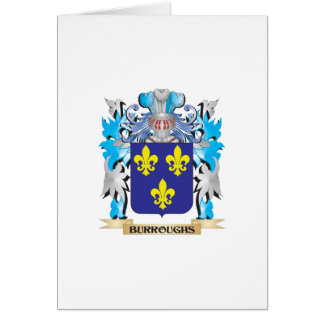 Burroughs Coat of Arms Greeting Card