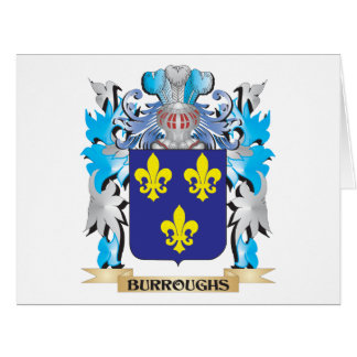Burroughs Coat of Arms Large Greeting Card