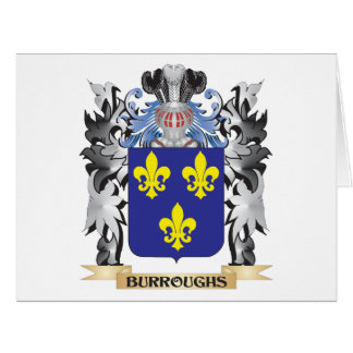 Burroughs Coat of Arms - Family Crest Large Greeting Card