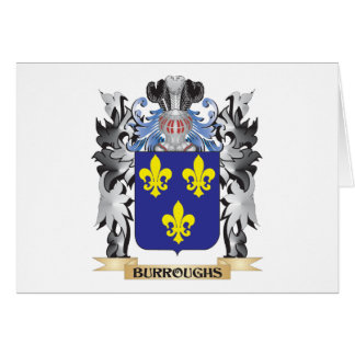 Burroughs Coat of Arms - Family Crest Stationery Note Card