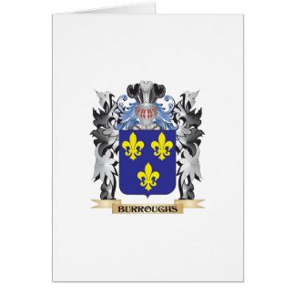 Burroughs Coat of Arms - Family Crest Greeting Card