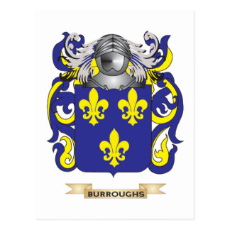 Burroughs Coat of Arms (Family Crest) Postcard