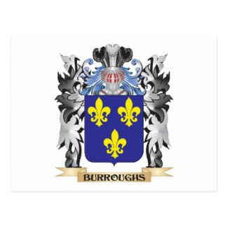 Burroughs Coat of Arms - Family Crest Postcard