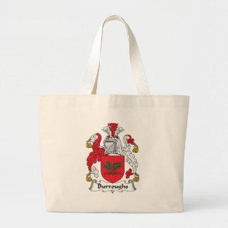 Burroughs Family Crest Canvas Bag
