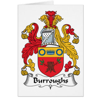 Burroughs Family Crest Greeting Card
