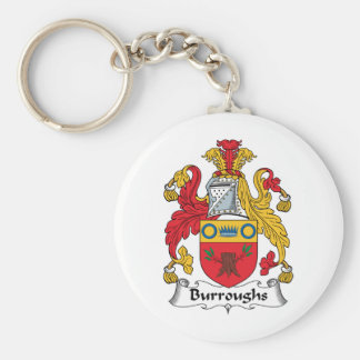 Burroughs Family Crest Keychain