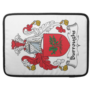 Burroughs Family Crest MacBook Pro Sleeves