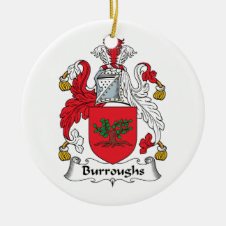 Burroughs Family Crest Christmas Tree Ornaments