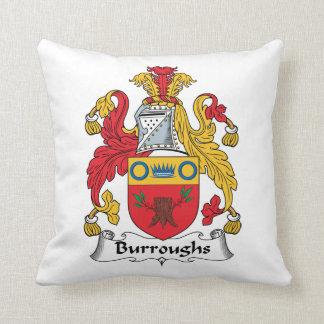 Burroughs Family Crest Throw Pillows
