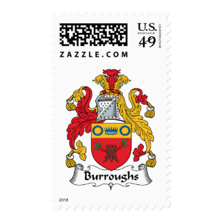 Burroughs Family Crest Postage Stamp