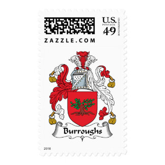 Burroughs Family Crest Postage Stamps