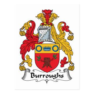 Burroughs Family Crest Postcard