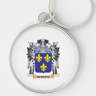 Burrow Coat of Arms - Family Crest Silver-Colored Round Keychain