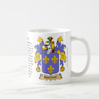 Burrow, the Origin, the Meaning and the Crest Coffee Mug