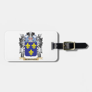 Burrowes Coat of Arms - Family Crest Luggage Tags