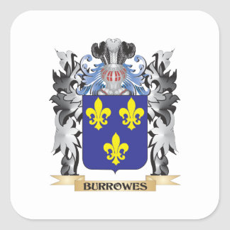 Burrowes Coat of Arms - Family Crest Square Sticker