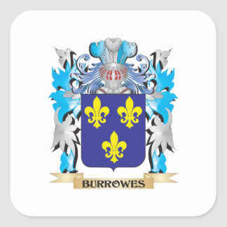 Burrowes Coat of Arms Square Sticker