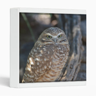 Burrowing Owl 3 Ring Binder