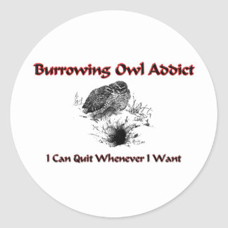 Burrowing Owl Addict Stickers