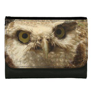 Burrowing Owl Baby Bird Wildlife Animal Leather Wallet For Women
