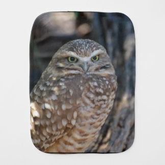 Burrowing Owl Baby Burp Cloth