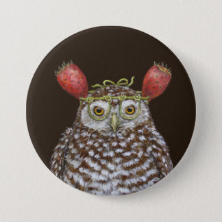 Burrowing owl button