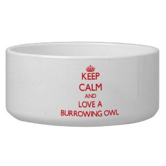 Burrowing Owl Dog Bowl