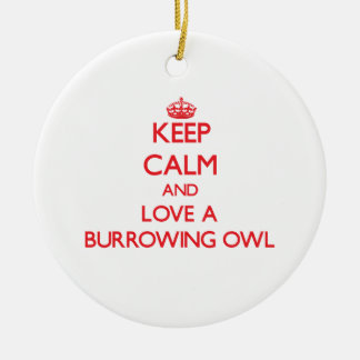 Burrowing Owl Double-Sided Ceramic Round Christmas Ornament