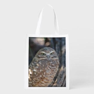 Burrowing Owl Grocery Bag