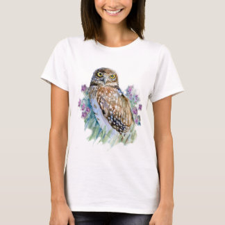 Burrowing owl in lavender T-Shirt