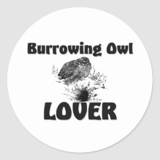 Burrowing Owl Lover Round Stickers