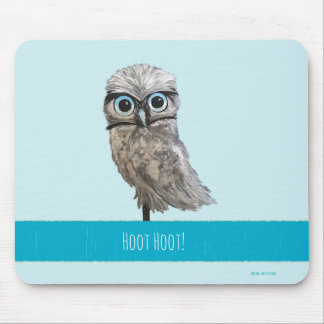 Burrowing Owl Painting Mouse Pad