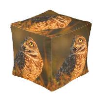 burrowing owl pouf