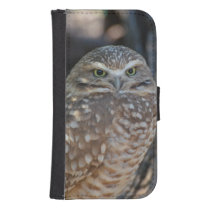 Burrowing Owl Wallet Phone Case For Samsung Galaxy S4