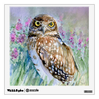 Burrowing owl Watercolor painting Wall Sticker
