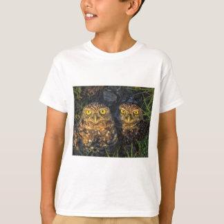 Burrowing Owls Cuddled in their Burrow T-Shirt