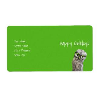 Burrowing Owls Label