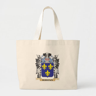 Burrows Coat of Arms - Family Crest Jumbo Tote Bag