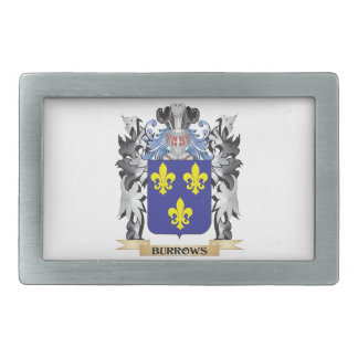 Burrows Coat of Arms - Family Crest Belt Buckles