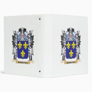 Burrows Coat of Arms - Family Crest Vinyl Binders