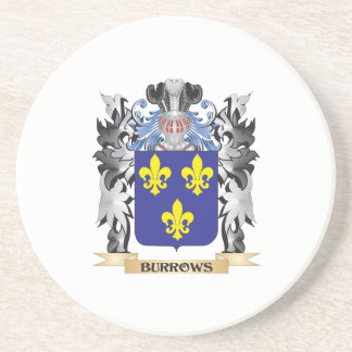 Burrows Coat of Arms - Family Crest Beverage Coasters