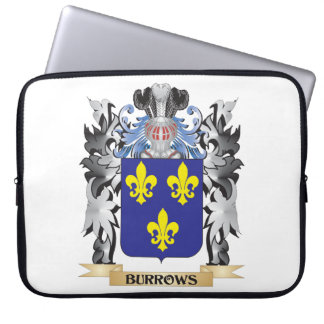 Burrows Coat of Arms - Family Crest Laptop Sleeve