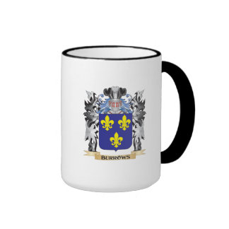 Burrows Coat of Arms - Family Crest Ringer Coffee Mug