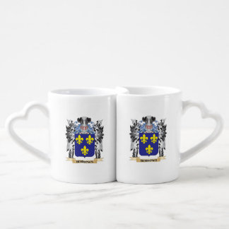 Burrows Coat of Arms - Family Crest Couples' Coffee Mug Set
