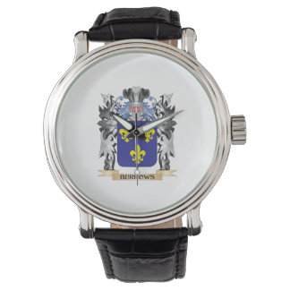 Burrows Coat of Arms - Family Crest Wristwatch